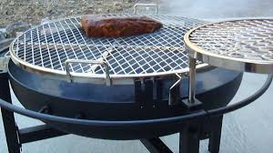 cowboy fire pit our steak on the cowboy grill youtube