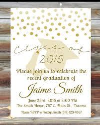 graduation open house invitations gold graduation open house invitation custom graduation
