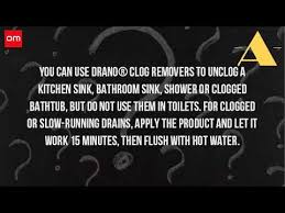 Kitchen Sink Clog Remover by Can You Put Drano Down The Kitchen Sink Youtube