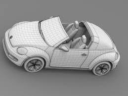 volkswagen beetle sketch vw beetle targa 2016 by creator 3d 3docean