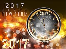 new year card design 2017 new year card design with classical clock free vector in