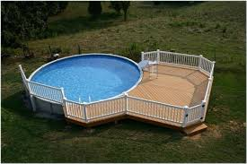 above ground pool ladders attached to deck decks home
