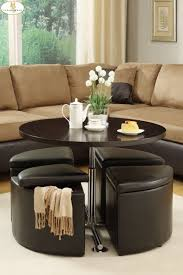 coffee table exciting leather round coffee table ottoman round