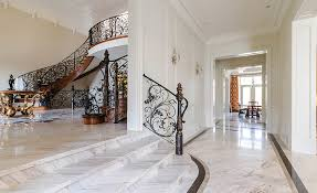 a downtown toronto high end residence uses a wide range of marble