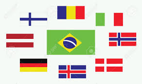 Country Flag Images Set Of Country Flags Romania Norway Brasil Italy Germany