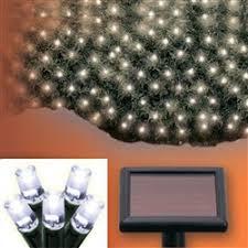 aleko sl5805 n50w solar powered white 50 led net lights for
