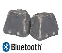 btr 150 wireless bluetooth rock speaker pair yard illumination