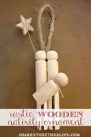 make a rustic wooden nativity ornament