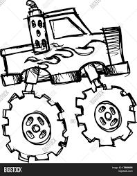 monster trucks clipart sketch monster truck vector vector u0026 photo bigstock