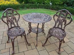 Cast Iron Patio Table And Chairs by Oakland Living Palm Tree 3pc Patio Bistro Set With Cast Aluminum