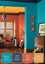 Entryway Color Schemes Blue And Orange Paint Combinations U2013 Alternatux Com