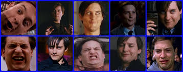 Tobey Maguire Face Meme - why andrew garfield is a better spider man than tobey maguire