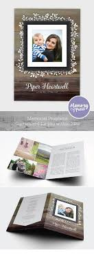 sle funeral program template 8 best images on families program template and