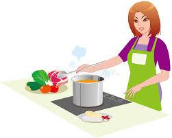 femme dans la cuisine le femme dans la cuisine illustration de vecteur illustration du