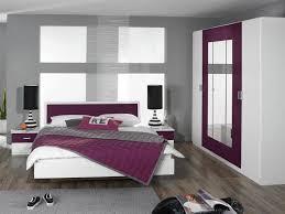 chambre violet et blanc a coucher blanche mauve d coration
