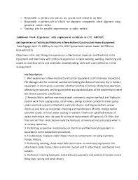 Tire Technician Job Description Resume Cv As Maintenance Technician Armando Malasan