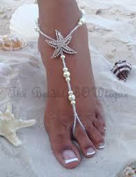 barefoot sandals wedding starfish barefoot sandals wedding by thebridalbowtique