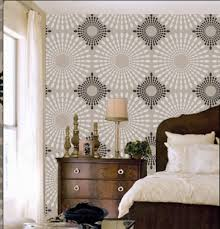 Master Bedroom Ideas With Wallpaper Accent Wall Bedroom Wall Stencils Bedroom Wall Diy Beautiful Bedroom Wall