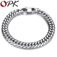 metal mens bracelet images Opk punk style 316l stainless steel mens bracelet classical biker jpg