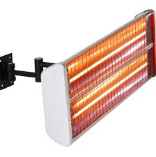 electric infrared patio heater 3kw black dual wall mounted electric infrared halogen patio heater