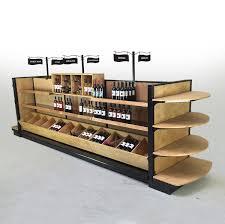 liquor store shelving commercial wine racks wood gondola shelving