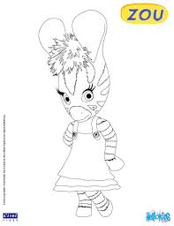 zou the zebra coloring pages hellokids com