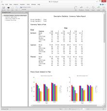survey data analysis software summary statistics ncss