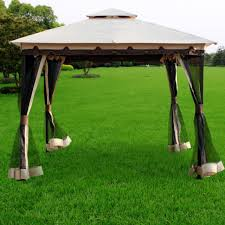 10 X 10 Pergola by 10 X 9 Metal Gazebo Patio Furniture Garden Deck Yard Weather