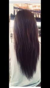 v cut layered hair hairstyles v back