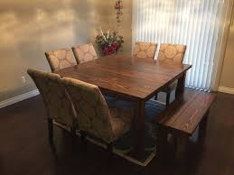 square dining table with bench square wood dining table unique design diy farmhouse throughout