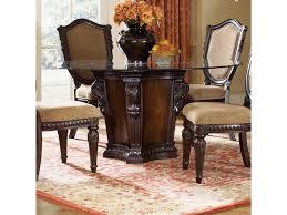 Glass Top Pedestal Dining Room Tables Fairmont Designs Grand Estates Pedestal Dinner Table W