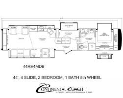 Bunkhouse Trailer Floor Plans Continental Coach 43 U0027 Double Bedroom Floorplans Trailer Travail
