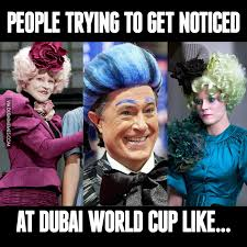 World Cup Memes - people trying to get noticed at dubai world cup like image