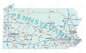 Usa Interstate Map by Pennsylvania State Road Map With Interstates And U S Highways