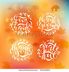 Thanksgiving Vector Art Thanksgiving Calligraphy Stock Images Royalty Free Images