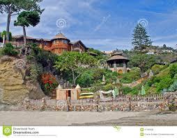 beach home at victoria beach laguna beach ca stock photo
