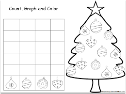 christmas graphs children can count and color