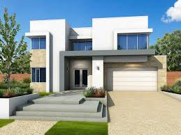 luxurious front yard design of modern house plans with pools