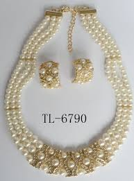 fashion pearl necklace set images Fashion bridal party fashion pearl jewelry sets bridal jewelry jpg