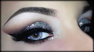 christmas cut crease 3d silver glitter elegant makeup