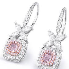 pink diamond earrings unique arkiv dalby diamonds