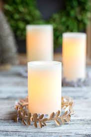 glitter paper candle wreaths lia griffith