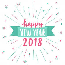 cards for happy new year happy new year greeting card 2018 vector free