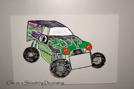 old grave digger monster truck chic on a shoestring decorating monster jam birthday party
