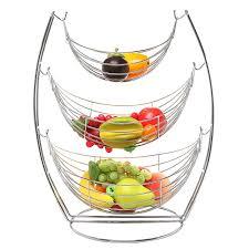 3 tier fruit basket 3 tier chrome hammock fruit vegetables
