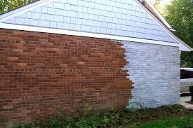 whitewash exterior brick doing this to my orange brick around