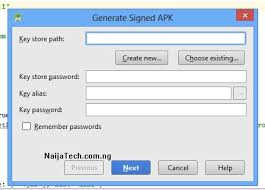 sign apk how to generate a signed version of android apk file