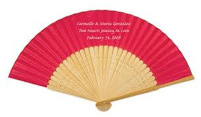 silk fan personalised silk wedding fans