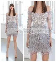 dress feather cocktail dresses off shoulder cocktail dresses