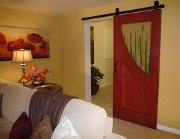 Knotty Alder Interior Door by Old Masters Crimson Fire Gel Stain On Knotty Alder Barn Door